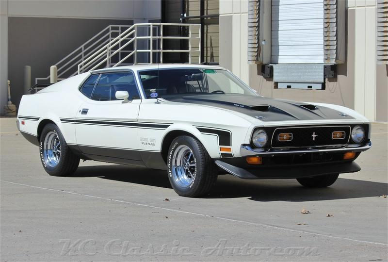 Click for 1971 Ford Mustang Mach1 Boss 351 Boss 351 (Cleveland 351, 4spd wide ratio)